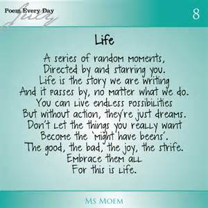 Life poem by ms moem daily poem project dailypoemproject