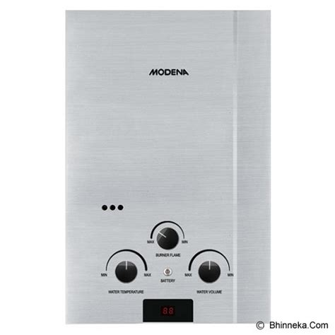 Water Heater Gas Modena jual modena water heater rapido inox gi 6 s murah