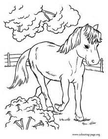 horses cute horse running farm coloring