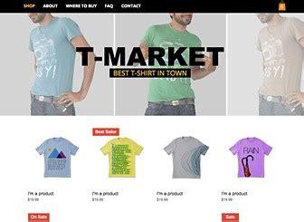 T Shirt Market Website Template Wix T Shirt Website Template Free