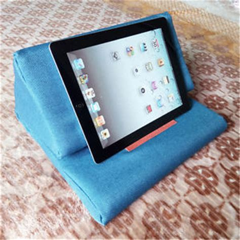 tablet pillow stand plush tablet gray holder wedge pillows angled cushion