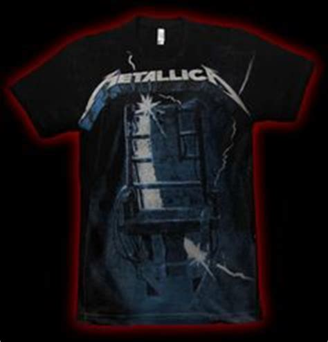 metallica t shirt ride the lightning embroidered concert