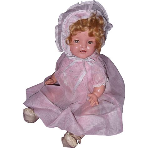shirley temple composition doll for sale ideal shirley temple baby 16 quot composition doll from
