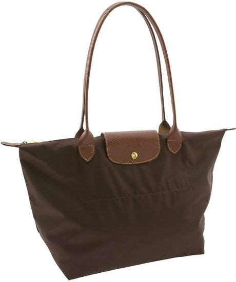 Longch Le Pliage Slh longch le pliage large tote in brown chocolate lyst