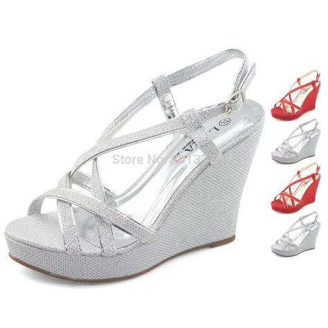 Wedge Heel Wedding Sandals by Silver Wedge Sandals Wedding 28 Images S Shoes Cowhide