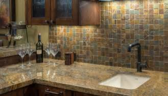 like the rustic look try tumbled slate for your backsplash custom florida multi colored metallic deco tile