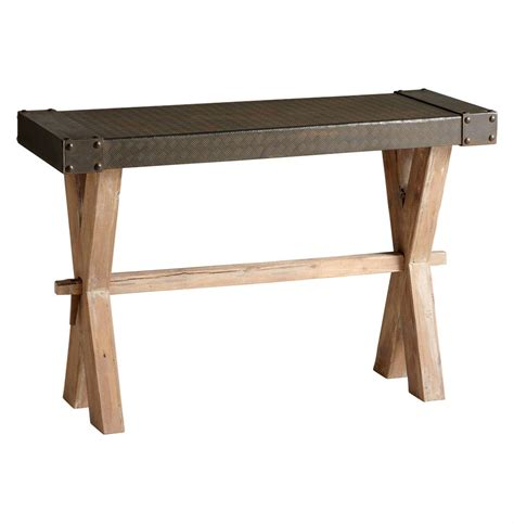 Rustic Console Table Mesa Solid Wood Iron Rustic Console Table Kathy Kuo Home