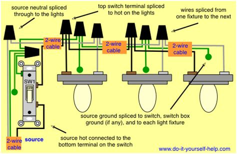 Electrical Wiring Light Fixture Light Switch Wiring Diagrams Do It Yourself Help