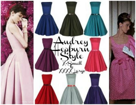 Audreys Pink Dress Now Up For Sale by Hepburn Style Classic Swing Vintage 1950 S Dress On