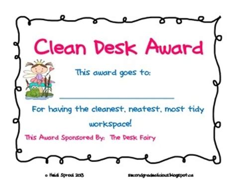 Clean Desk Award by Desk Notes Award And Graph