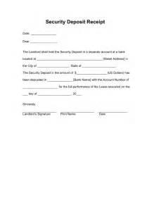 tenant receipt template free security deposit receipt template word pdf