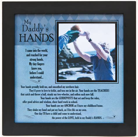 daddy s my daddy s hands poem frame for dad