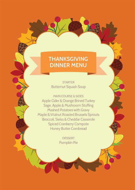 easy and tasty thanksgiving dinner menu recipes and