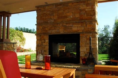 Outdoor Two Sided Fireplace by Outdoor Fireplace Orange Ca Photo Gallery