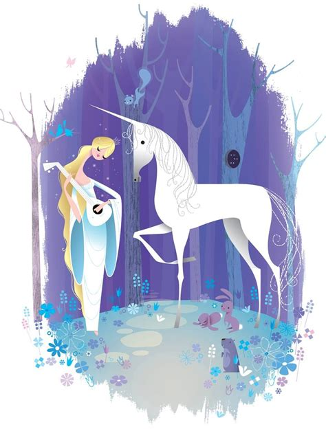 unicorn fairy tale illustrations unicorn and girl illustration by kirsten ulve flying