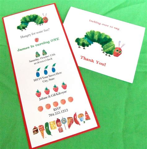 195 Best Very Hungry Caterpillar Party Theme Images On Pinterest Caterpillar Hungry Hungry Caterpillar Birthday Invitation Template