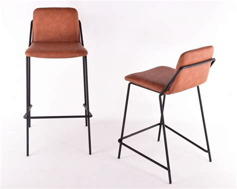 Leather Sling Counter Stool by Sling Barstool Upholstered Nuans
