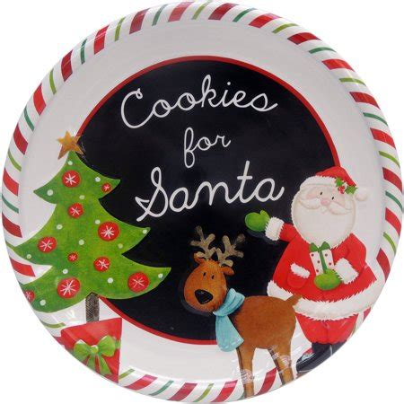 Set Santa cookies for santa plate set of 6 walmart