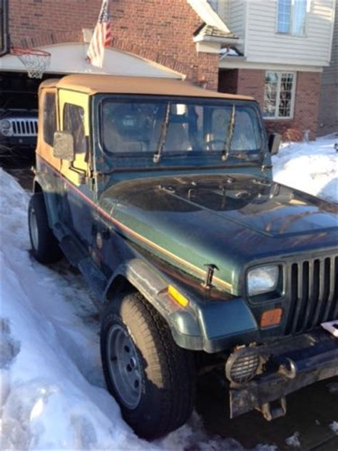 1993 Jeep Parts Purchase Used 1993 Jeep Wrangler 4 0l 5 Speed All