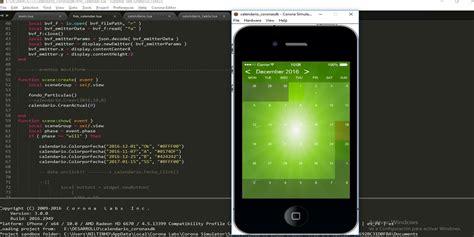 app screenshot template calendar corona sdk app template corona app templates