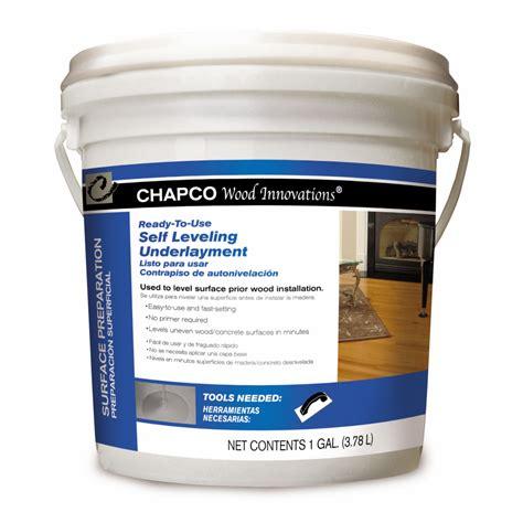 shop chapco 1 gallon self leveling underlayment at lowes com