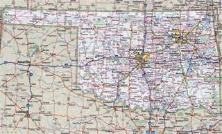Ok State Map by Large Detailed Roads And Highways Map Of Oklahoma State
