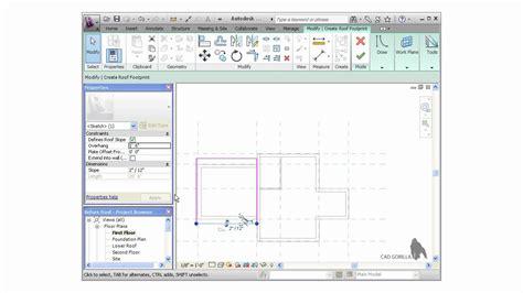 revit tutorial start to finish autodesk revit tutorial creating roofs youtube