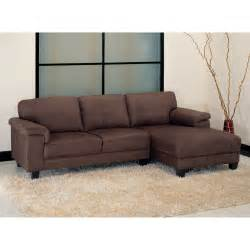 Microsuede Sectional Sofa Abbyson Living Camden Brown Microsuede Sectional Sofa At Hayneedle