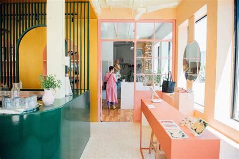 color blocked interiors  pastel rita cafe  appareil