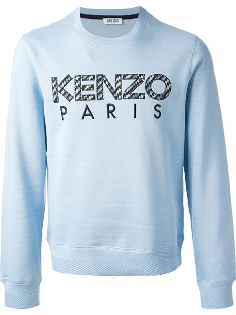 Sweater Logo kenzo logo sweater in blue for lyst