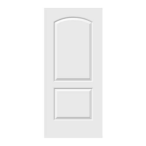 2 panel interior doors home depot jeld wen 36 in x 78 in smooth 2 panel archtop primed
