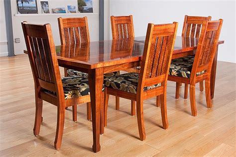 hawaiian curly koa dining table  chair dining room