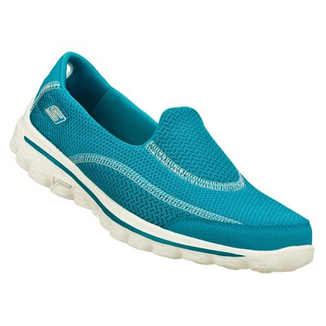 Skechers Z by Skechers Skechers Go Walk 2 Turq N45 Z 27 Womens Slip