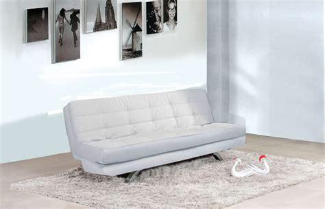 poltrone e sof罌 divano letto eleonora 116x92x43 bianco o nero in ecopelle