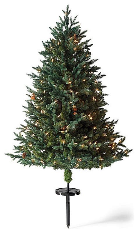 white pine cordless stake outdoor christmas tree christmas