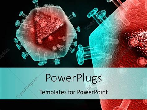 Powerpoint Template Tested Sle Of Cells Infected By Hiv Virus On Black Surface 9473 Virus Powerpoint Template Free
