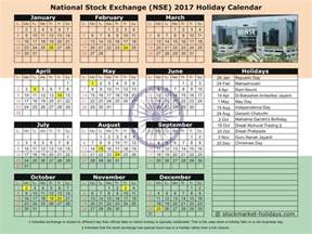 Calendar 2018 Holidays List National Stock Exchange Of India 2017 2018 Holidays
