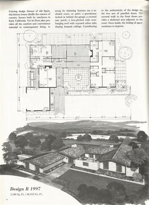 old spanish house designs vintage house plans spanish style homes 1976 vintage