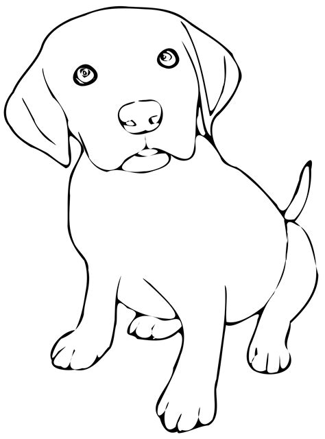 puppy clipart black and white big image png