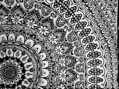 tumblr pattern dark mandala wallpaper black and white wallpapersafari