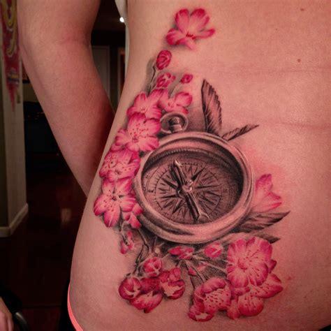 compass tattoo hip sean adams certified artist