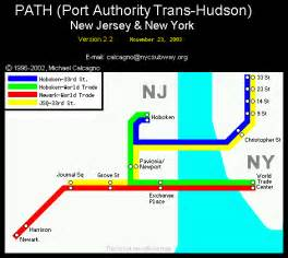 New York Path Map by World Nycsubway Org Path Port Authority Trans Hudson