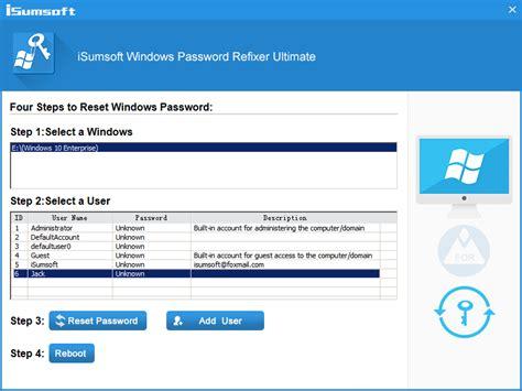 windows password reset ultimate full version download isumsoft windows password refixer 2 0 1