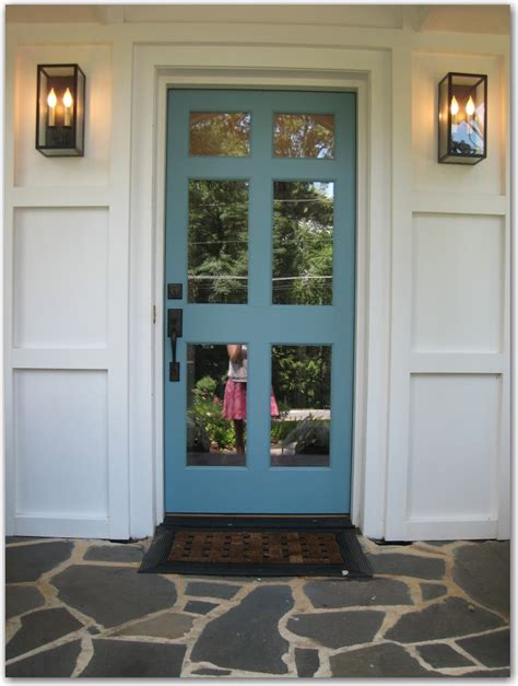 front door painted decor the doors idea blog posts ranch homes blue