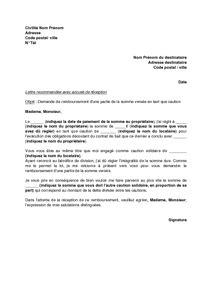 Non Restitution De Caution 1911 by Modele Lettre Remboursement Caution Andallthingsdelicious