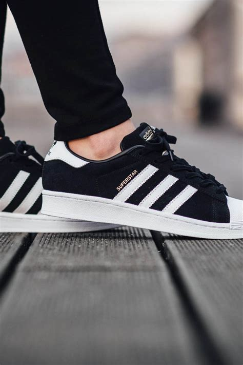Adidas Superstar Black adidas superstar suede black soletopia
