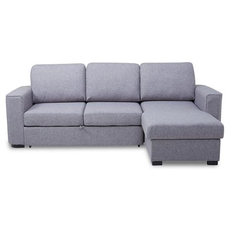 ronny fabric corner chaise sofa bed with storage next