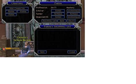 lotro ui layout save lotrointerface crafters crafters