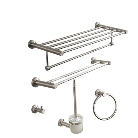 Brushed Steel Bathroom Accessories Nickel Brushed Silver Modern Bathroom Accessories Sets