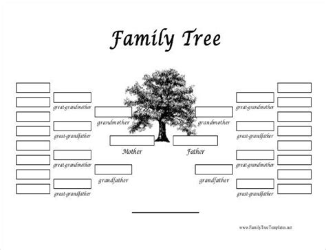 25 best ideas about family tree template word on
